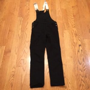 Wildfox Chloe Black Overalls, size XS. Made in USA